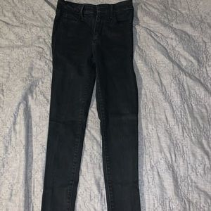 Abercrombie and Fitch black high rise jeans